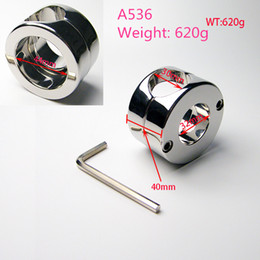 Wholesale Testicular Bondage - A536 High qualitiy Stainless steel Scrotal load-bearing ring, The cock penis JJ ring, Testicular bondage device 620G, adult products