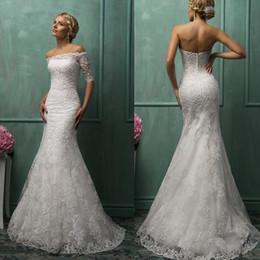 Wholesale Lace Wedding Dresses Open Back Strapless - Sexy Lace Mermaid Backless Wedding Dresses 2015 Open Back Wedding Gowns Plus Size With jackets Amelia Sposa
