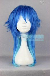 Wholesale Dramatical Murder Dmmd Wig - Wholesale-free shipping Dramatical Murder DMMD Seragaki Aoba cosplay wig long mixed blue cos wig 1