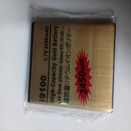 Wholesale Gold Battery Galaxy S2 - Excellent Quality High Capacity Gold Batteries Replacement Battery For Samsung i9100 GALAXY SII S2 2450mAh 3.7V Epacket 5pcs lot