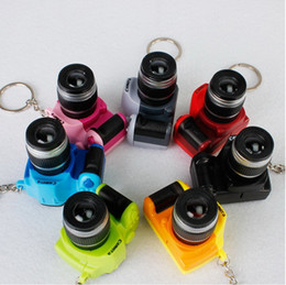 Wholesale Smallest Portable Camera - New Style Portable Flashlight Keychain SLR Cameras with Voice Sound Novelty Gift Small Camera Torch Wholesale 100Pcs lot by Dhl