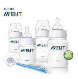 Wholesale 9oz Feeding Bottle - 100% Brand Original AVENT Baby Feeding Milk Nursing Bottle Mamadeira newborn Starter Set 4oz(125ml) bottle*2 + 9oz(260ml) bottle*2 + 1*Brush