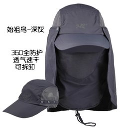 Wholesale Male Bucket Hats - Male Female Outdoor Visors Sun Baseball Cap Neck Cover Climbing Breathable Fishing Hats Quick Drying UV Protection Bucket Hat