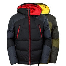 Wholesale Puffer Ski Jackets - Fall-2016 Wholesale Winter Warm 90% Duck Down Men's Ski Outdoor Hooded Jacket face Male Outerwear Thicken Puffer Parka M-3XL dt219tnf