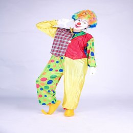 Wholesale Free Comedy - Brand New unisex Magician Event Comedy Clown Mascot Costume Christmas Character Costume Adult Cartoon Fancy Sexy Halloween adult size