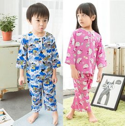 Wholesale Christmas Pajamas For Children Cotton - Kids Clothing baby pajamas 2016 New clothes Cotton Cartoon Long Sleeve tops + pants Homewear Suit for boys girls Children sets 14 colors