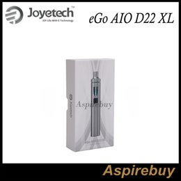 Sumos de ego on-line-Kit Joyetech eGo AIO D22 XL All-In-ONE Estilo 3.5ML E-Juice Capacidade 2300mAh Bateria Ajuste de enchimento de ar E-suco de enchimento 100% autêntico