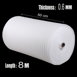 Wholesale Cushion Packing Shipping - Wholesale-0.5*8m 1Pcs 0.6mm Protector EPE Roll Packing Film Verpakkings Material Protection Packing Air Cushion Warp Shipping Pre-cut Foam