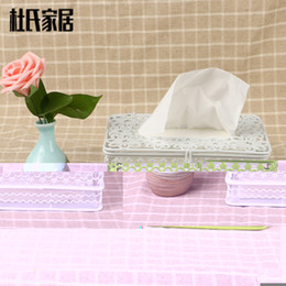 Wholesale Tissue Paper Box Craft - Wholesale- New creative iron art crafts car hotel home room kitchen table decorative napkin paper tissue towel box cover holder case rack