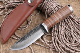Wholesale Forged Steel Hunting Knives - Damascus A39 Handmade Straight Knife Forged Steel Tactical Sharp Knife High Carbon Pattern Steel Fixed Blade Knife