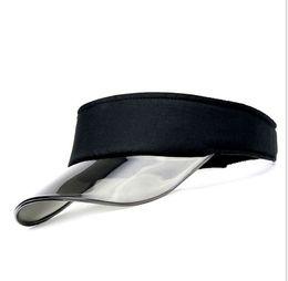 Wholesale Clear Plastic Visor - New Summer UV Plastic Visor Sun Hats Men Outdoor Clear Dealer Tennis Beach Hat Protection Snapback Caps10pcs lot Free shipping
