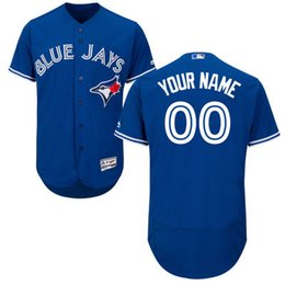 Wholesale Majestic - Baseball Jerseys Men's Toronto Blue Jays Majestic Blue White Red Grey Flexbase Authentic Collection Custom Jersey Size S-4XL