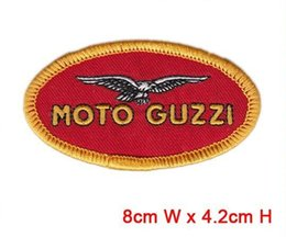 Wholesale Wholesale Used Bags Brands - moto guzzi logo badges individuality decorate use in cloth hat or bag iron patch brand logo factory in china welcome custom