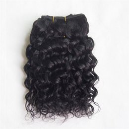 Wholesale One Piece Black Hair Extensions - One Piece Brazilian Remy Hair Spiral Candy Curly Natural Curly Black Color Jerry Curly 100% Human Hair Extension