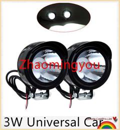Wholesale Angle Eyes Car - 10Pieces lot 3W Universal Car Motorcycle Headlight led DRL Fog light Spot Light Lamp Angle Eyes 12-80V Waterproof