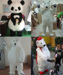 Wholesale bear fancy dress costumes - Lovely Polar Bear Mascot Costume Adult Size Animal Theme White Bear Mascotte Mascota Outfit Suit Fancy Dress