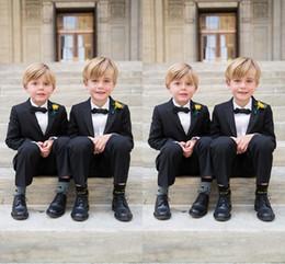 Wholesale Chart Yellow Clothes - Custom Made Kid Boy Tuxedos Boys Wedding Events Suit Boy's Attire Peaked Lapel Boys Formal Clothing(Jacket+pants)