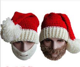 2019 máscara de esquí de barba Navidad bufandas sombreros adultos Warm Full Beard Beanie bigote máscara cara Warmer Knit esquí lana gorro de invierno para mujeres niños Winter Hat máscara de esquí de barba baratos