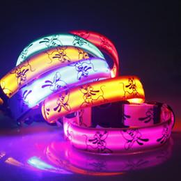 Wholesale Wholesale Dog Articles - New arrival Luminous pet LED collar luminous pet Fluorescent luminous cartoon dog collar Articles 6 colors WA0812