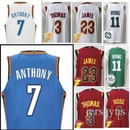 Wholesale Michael New - 17-18 New #7 Carmelo Anthony Jersey 9 Dwyane Wade #1 Derrick Rose #3 Isiah Thomas LeBron 23 Michael 11 Kyrie Irving George westbrook jerseys