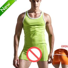 Wholesale Men Body Stockings - Superbody Sexy Undershirt Men bodysuit body stocking sexy Man jumpsuit wresting Undershirts shapper gay clothing exotic club jumpsuit