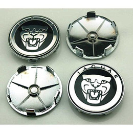 Wholesale Wheel Cap 16 - 4 Pc 56mm 59mm 60mm 65mm 68mm Car Styling Accessories Emblem Badge Sticker Wheel Hub Caps Centre Cover for JAGUAR XF XJ XJS XK S-TYPE X-TYPE