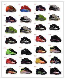 Wholesale Soft Red Leather Shoes - Superfly V FG CR7 Soccer Shoes Ronaldo Superfly Football Shoes Neymar CR7 Soccer Boots Outdoor Football Boots Football Cleats Athletic Shoes