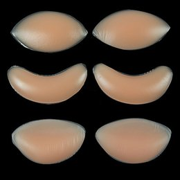 Wholesale Silicone Enhancer For Breast - Wholesale-1Pair Breast Enhancer Push Up Padded Bra For Women Silicone Gel Bra Insert Pads Bikini Swimwear Invisible Pad Support 3 Types