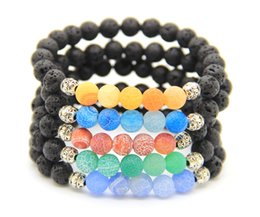 2016 New Arrival Stone Jewelry Wholesale 8mm Rock Lava Stone with Weathering Stone Lucky Bracelets Party Gift Coupons