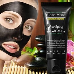 Wholesale Seaweed Whitening Cream - Shills Deep Cleansing Black Mask Purifying Peel Off Black Mud Facail Face Mask Remove Blackhead Facial Mask 50ml DHL
