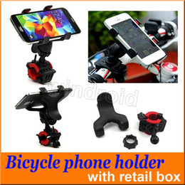 Wholesale Mtb Box - 360 Degree Universal MTB Bike Bicycle Phone Holder Handlebar Mount Motorcycle Phone Holder For iPhone i7 Samsung note7 GPS + retail box 100