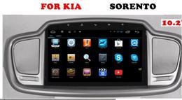 Wholesale Sorento Gps 3g - 10.2 inch Android 6.0 Car Dvd Gps Navi Audio for Kia Sorento 2015-- 1024*600 OBD 3G 4G Original Steering wheel quad core