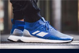 Wholesale Basketball Times - Fashion Ultra Boost Mid Run Thru Time Pack Man Running Shoes French Blue Ultraboost Primeknit ultra boosts Mens Sport Sneakers size US 7-11
