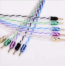Canada L'aluminium appartient à Rainbow Car AUX audio câble voiture haut-parleurs 3.5mm mâle à mâle câble audio en gros Offre