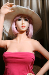 Wholesale Doll Blond - 165cm Full Silicone sex Doll Blond Hair Brown eyes Masturbator Toys for Adult to make love