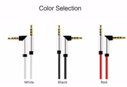 Wholesale Angle Speakers - Car AUX 4 pole audio cable MP3 MP4 or mobile phone to car CD AUX 90 degree angle 3.5mm male to male