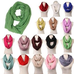 Wholesale Solid Color Polyester Scarves - 2017 Newest Fashion Solid Color Scarves Infinity Scarf Loop Scarf Women Scarf Warm Soft Winter Ring Scarf