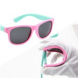 Wholesale Infant Glasses - Classic Infant Baby Kids Polarized Sunglasses Children Safety Coating Glasses Sun UV 400 Protection Fashion Shades oculos de sol