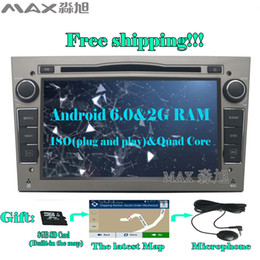 Wholesale G Dvd Player - 2G+16G Android 6.0 Car DVD Player for Vauxhall Opel Astra H G J Vectra Antara Zafira Corsa with Radio BT GPS WIFI