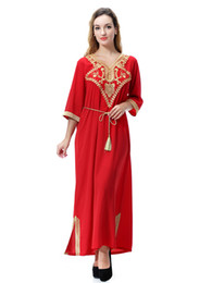 Wholesale Gowns For Ladies - Wholesale muslim girl dress Arabia, the Middle East, Dubai, Saudi Arabia, Southeast Asian women's gowns, long dresses for Lady girls