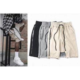 Wholesale Mens Harem Sweats - Wholesale-kanye hip hop brand 2016 fashion mens designer clothing men justin bieber clothing black grey sweat harem fear of god shorts