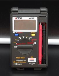 Wholesale Victor Vc921 Pocket Digital Multimeter - Wholesale-VICTOR 3 3 4 Multitester VC921 3999 DMM VICTOR Mini Integrated Handheld Pocket Digital Frequency Multimeter FREE SHIPPING