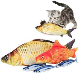 Wholesale Plush Pet Toy - Simulation Plush Cat Fish Toys 18cm Funny Fish Cat Pillow Plush Toy Cat Fish Cotton Pet Toy OOA2881