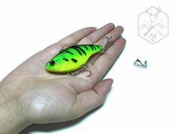 Wholesale Walleye Lures - MIZUGIWA Fishing Lure VIB Lure Vibration Crankbati Hard Bait Lures Walleye Crappie Fishing 18.2g 75mm 6 Color