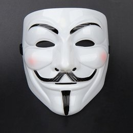 Wholesale Guy Fawkes V For Vendetta - The V for Vendetta Party Cosplay masque Mask Anonymous Guy Fawkes Fancy Dress Adult Costume Accessory macka mascaras halloween