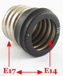Wholesale E17 Base Led - E17 Male to E14 Female Socket Base LED Halogen CFL Light Bulb Lamp Adapter