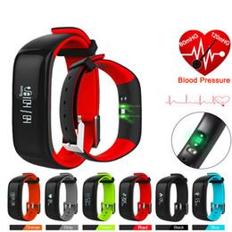 Wholesale Wholesale Wrist Blood Pressure Monitor - P1 Smartband Blood Pressure Monitor Smart Band Pedometer Activity Tracker Pulse Monitor Wristband Fitness Bracelet For Phone
