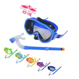 Wholesale Diving Pc - New Arrival PVC Swimming Scuba Anti-Fog Goggles Mask & Snorkel Set Diving glasses ZD084