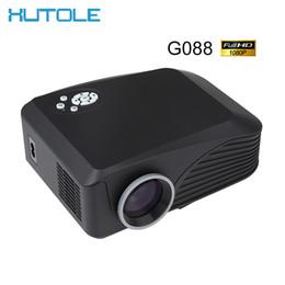 Wholesale Vga Media - Wholesale- New LCD LED Full HD 1080p Digital Projector Portable Home Theater 1200Lumen AV VGA USB TF HDMI G088 Movie Multi Media Player