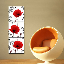 Wholesale Oil Painting Bamboo - Free Shipping 3 Pieces unframed art picture Canvas Prints Toy doll girl Bamboo Lotus leaf Calla Lily Plum Abstract flowers Home decoration